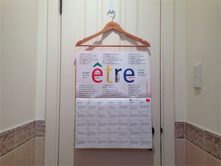 The French calenda in Josh's loo